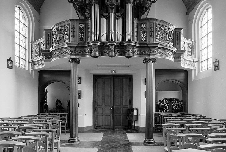 Tribune d'orgue, garde-corps de tribune