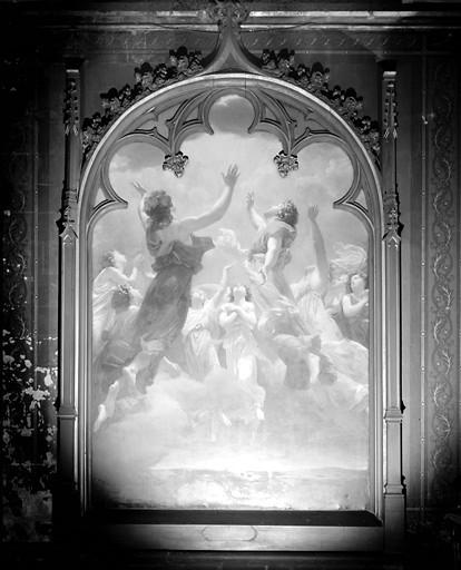 Tableau : la Délivrance des âmes du Purgatoire ou les Saints Anges Gardiens