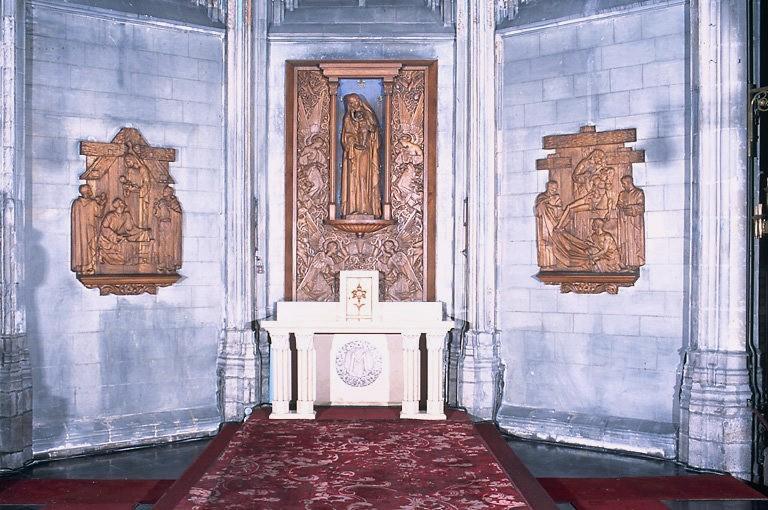 Ensemble de l'autel de la Vierge