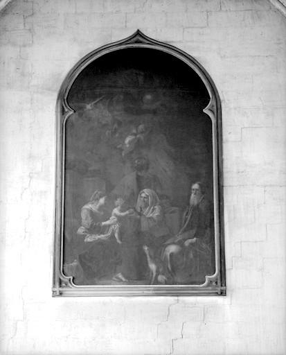 Tableau : la sainte Famille avec sainte Anne et saint Joachim