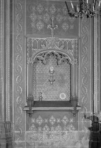 Peintures monumentales et éléments d'architecture (ensemble de l'autel de Saint-Joseph de style néo-gothique)
