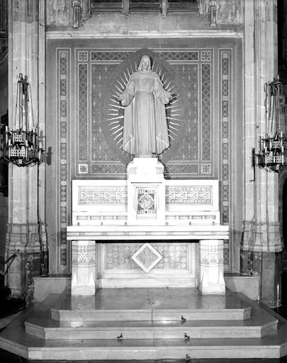 Ensemble de l'autel du Sacré-Coeur