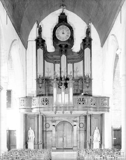 buffet d'orgue, balustrade et faux positif