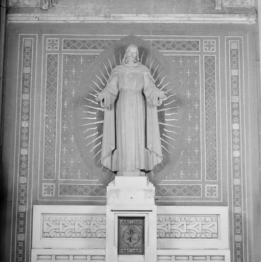Statue du Sacré-Coeur (ensemble de l'autel du Sacré-Coeur)