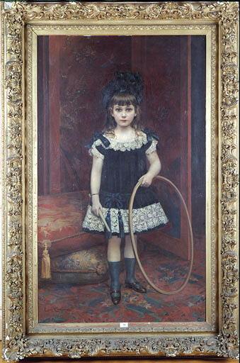 Tableau : La Petite fille au cerceau