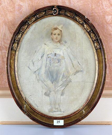 Tableau : Portrait de Géo en clown blanc