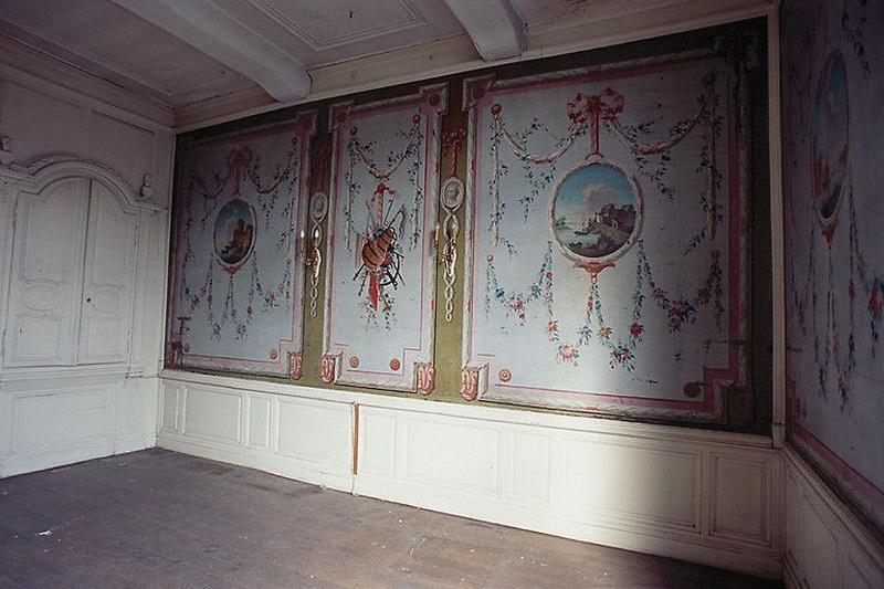 Ensemble des peintures de la salle des bateliers ; Maison de la corporation des bateliers de Condé, actuellement presbytère