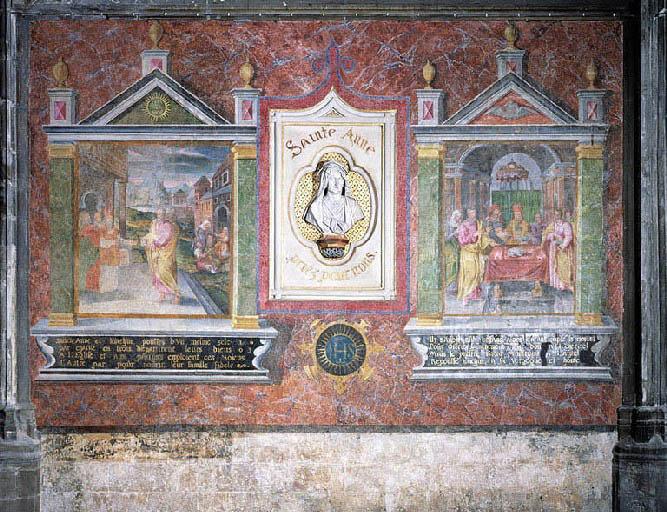 Peinture monumentale : vie de sainte Anne et saint Joachim
