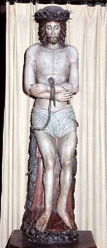 Statue : Christ souffrant dit Dieu de Pitié
