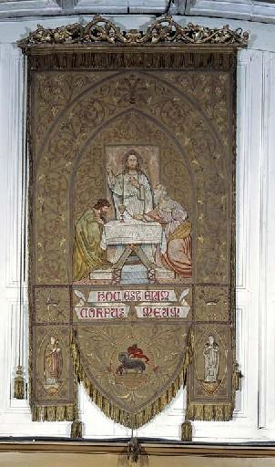 Bannière de procession de la Confrérie du Saint Sacrement
