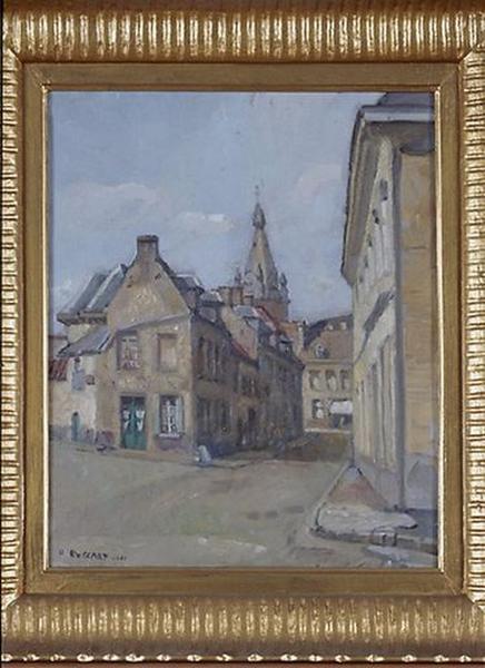 Tableau : La Rue du Marais à Condé