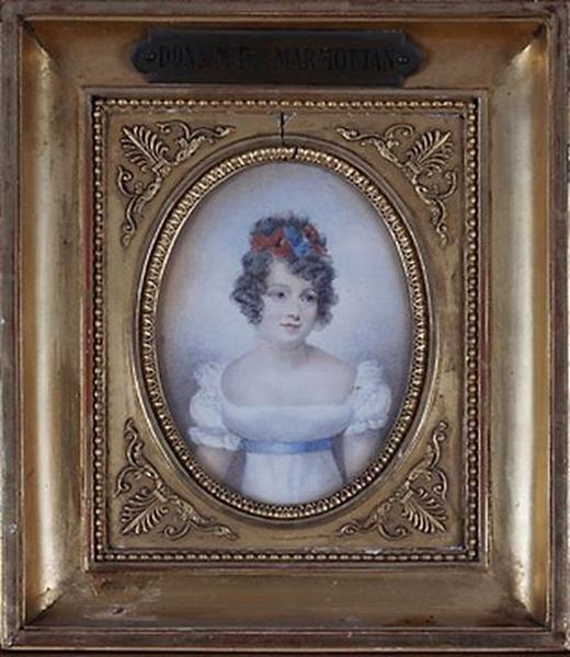 Tableau : Portrait de jeune fille en buste