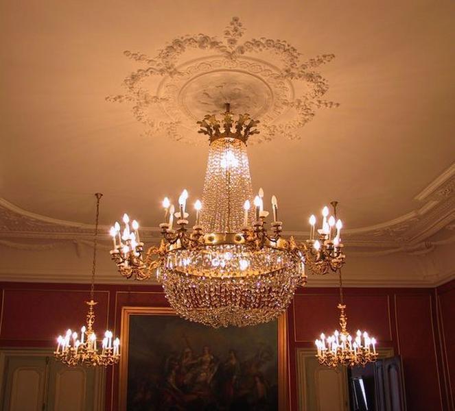 Lustre central du grand salon
