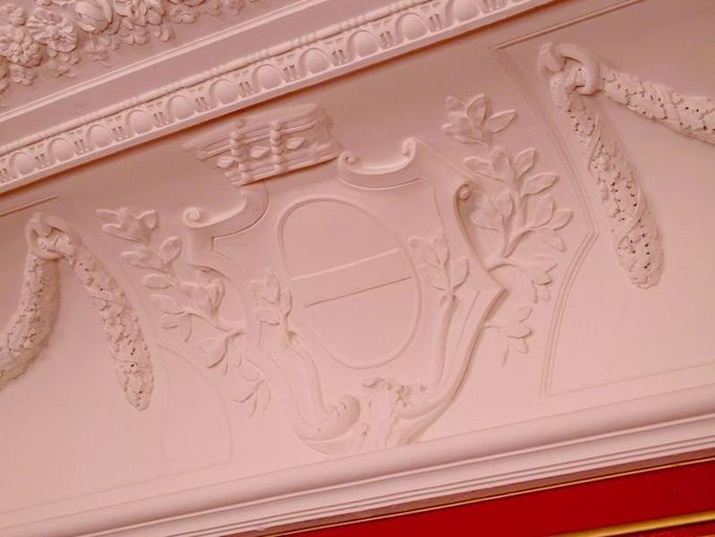 Ensemble du décor du plafond et de la corniche du grand salon