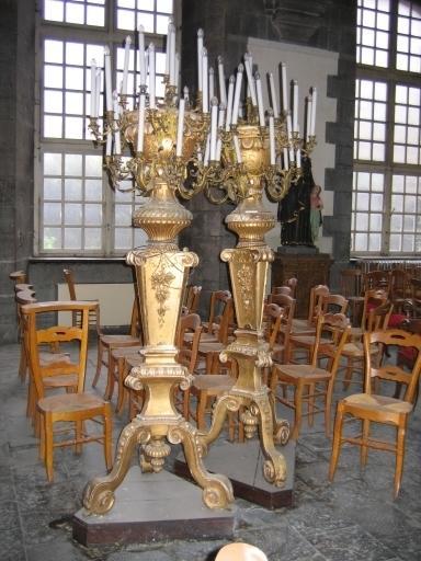 Paire de chandeliers de choeur