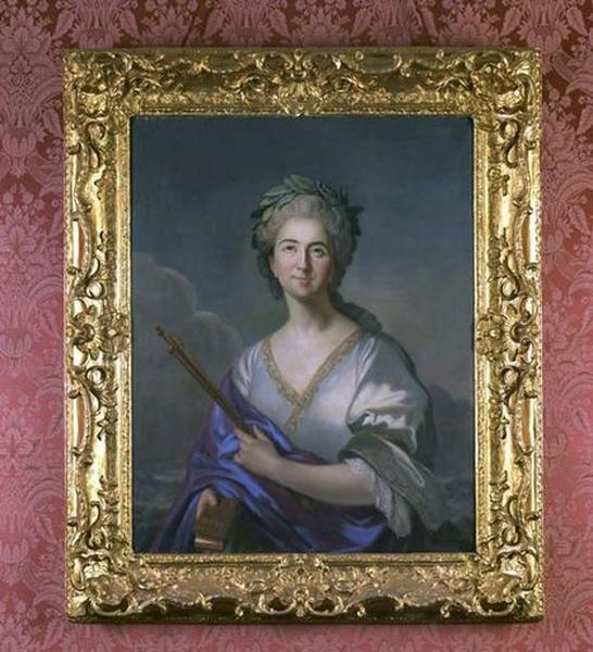 Tableau et cadre : Portrait en buste de la Clairon