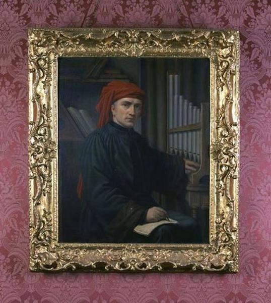 Tableau et cadre : Portrait de Josquin des Près