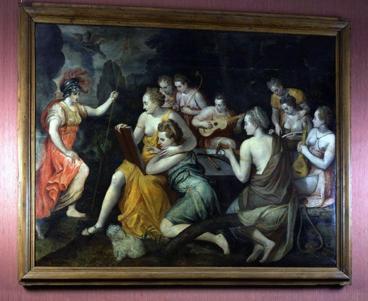 Tableau : Minerve et les Muses (Athéna et les Muses)