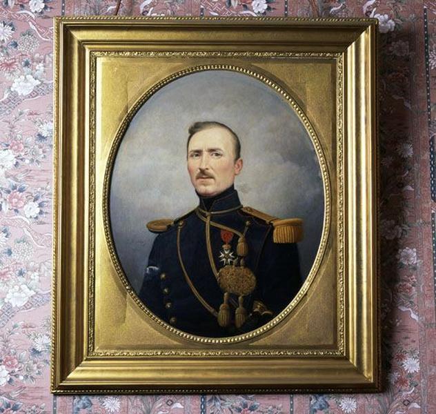 Tableau : Portrait de M. Petit en uniforme d'officier