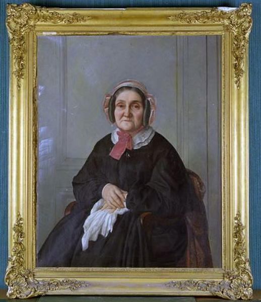 Tableau : Portrait de femme assise
