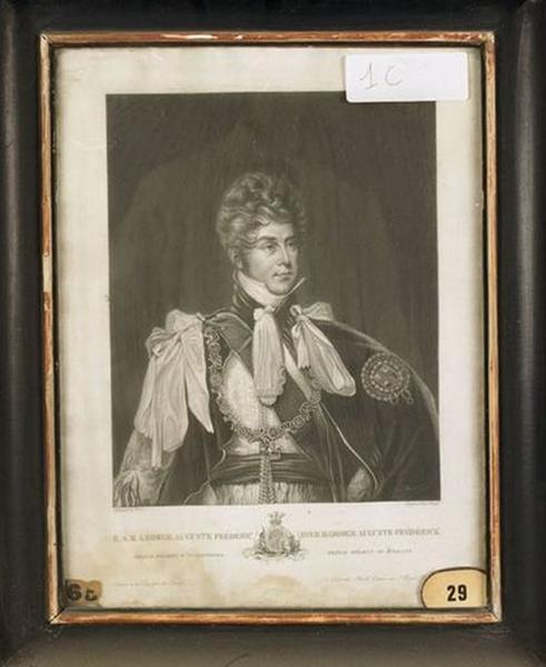Estampe : Portrait de George Auguste Frédéric, prince régent d'Angleterre (George IV)