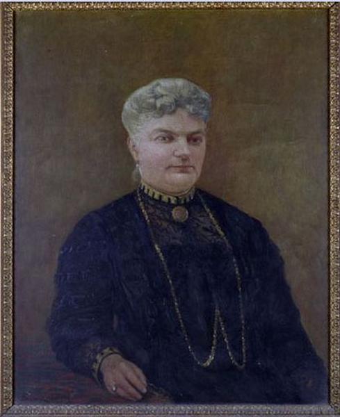Tableau : Portrait de femme accoudée à une table
