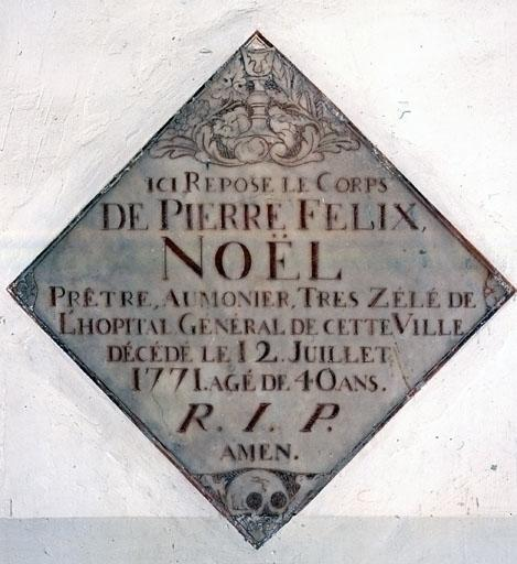 Plaque funéraire de Pierre Felix Noël