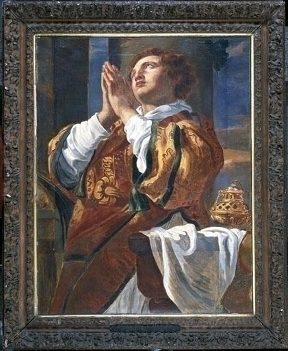 Tableau : Saint Etienne en prière