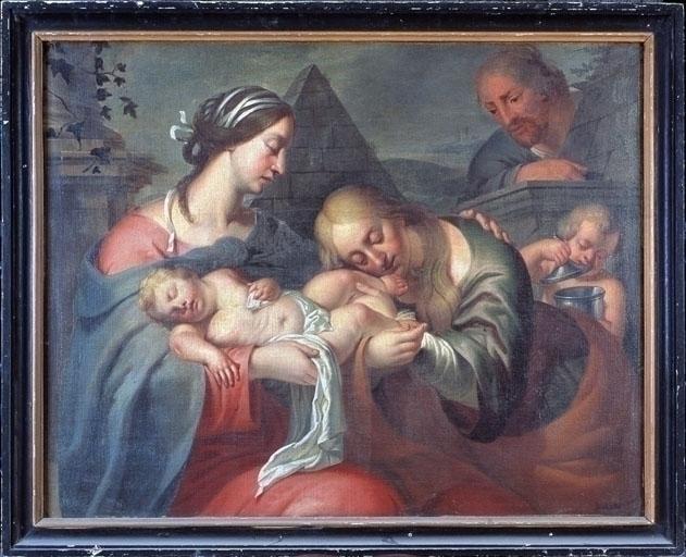 Tableau : Sainte Famille avec la Madeleine