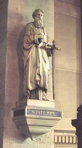 2 statues : Saint Pierre, saint Paul