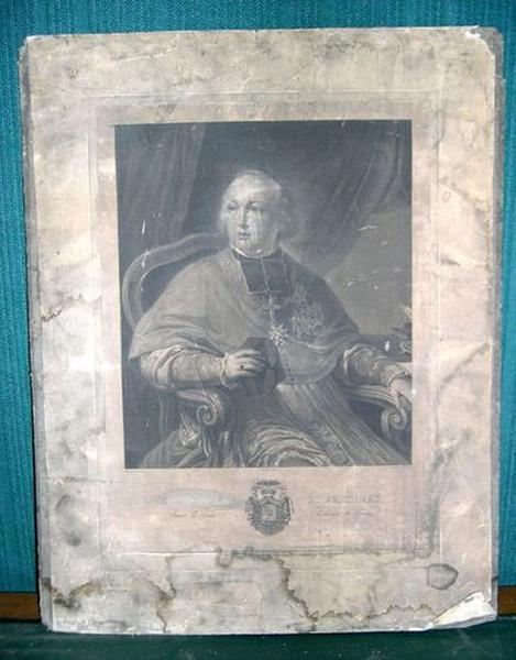 Estampe : Portrait du cardinal de Croy, archevêque de Rouen