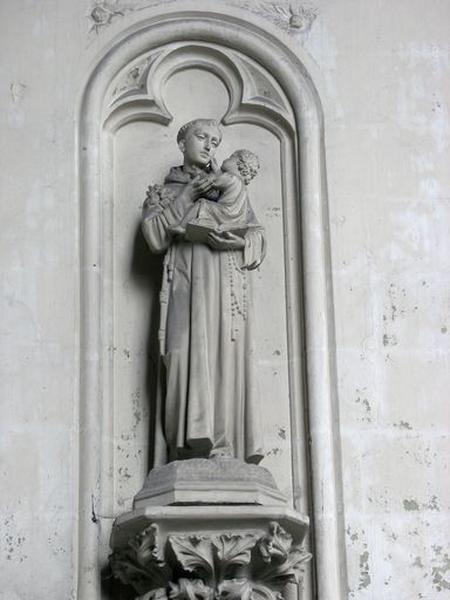 Ensemble de 2 statues : saint Antoine de Padoue, saint François d'Assise