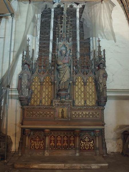 Ensemble de l'autel de la chapelle Saint-Joseph (autel, tabernacle)