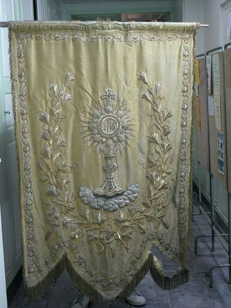 Bannière de procession du saint sacrement (Ostensoir)