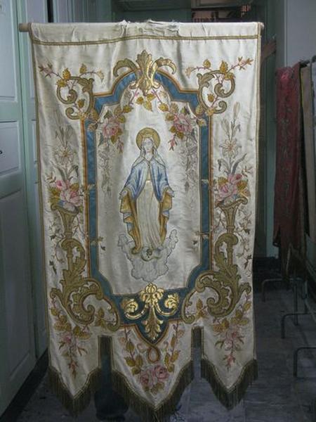 Bannière de procession de l'Immaculée Conception