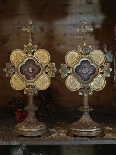 Ensemble de 2 reliquaires