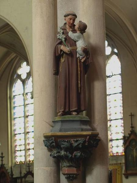 Statue sur console d'architecture : saint Antoine
