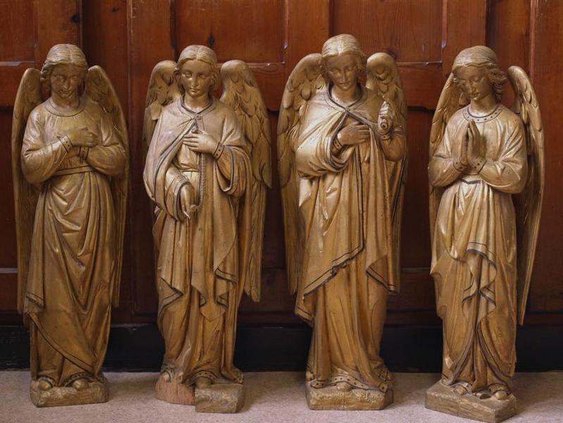 Ensemble de 4 statuettes d'anges