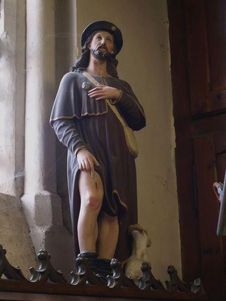 Ensemble de 2 statuettes : saint Roch, Enfant Jésus