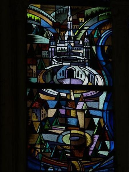 Verrière (verrière figurée décorative) : Jérusalem céleste (?)