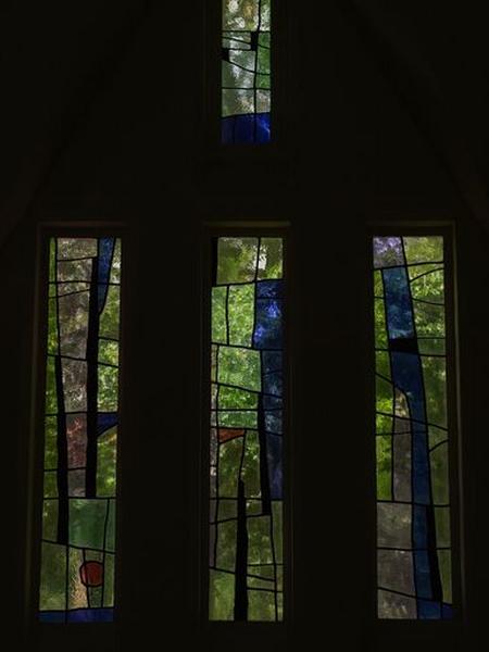 Ensemble des 6 verrières de la chapelle Sainte-Barbe