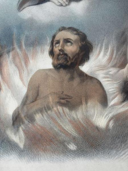 Lithographie : Notre-Dame du Mont Carmel