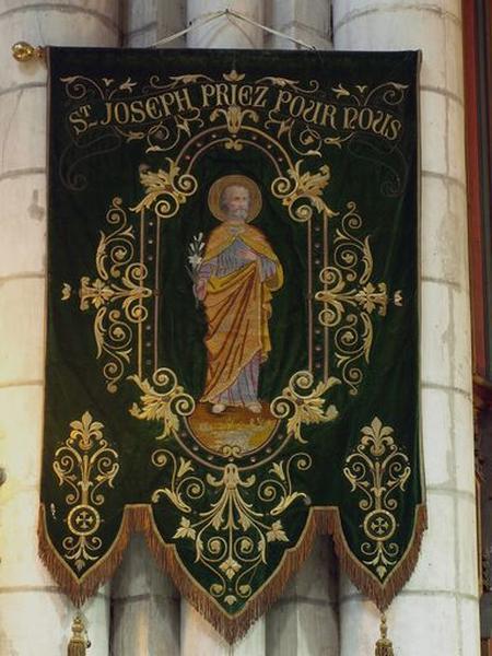 Bannière de procession : saint Joseph