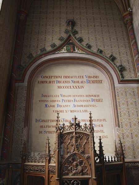 Peinture monumentale : décor peint de la chapelle de la Conception de Notre-Dame