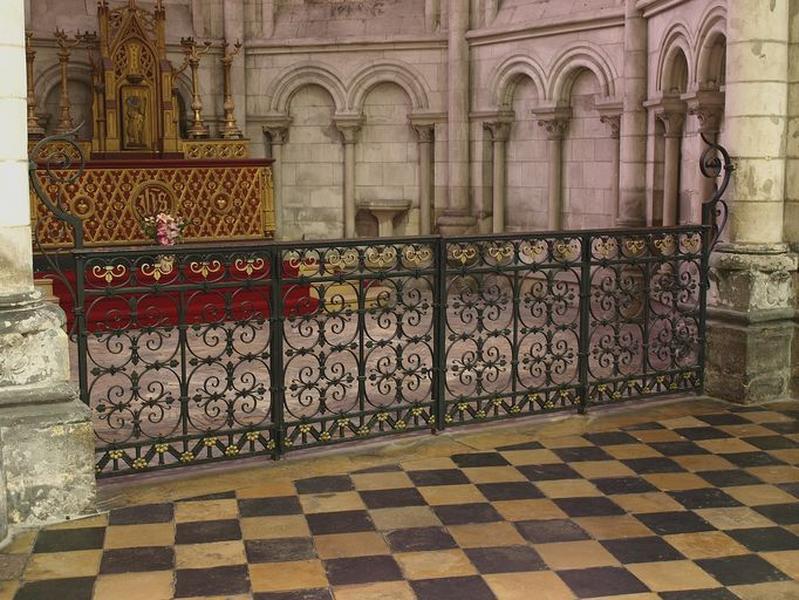 Ensemble des clôtures des chapelles du déambulatoire