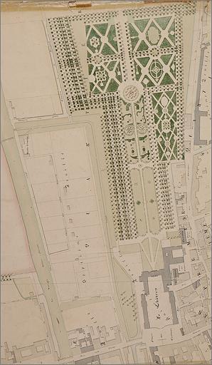 """Jardin du château Stanislas dit """"Les Bosquets"""", actuellement parc public"""