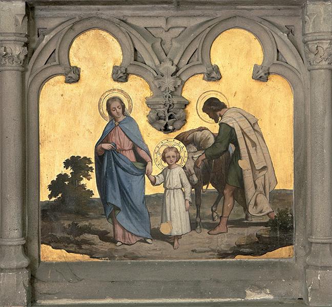 ensemble de 3 autels de style néo-gothique