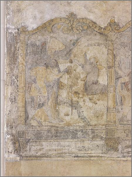 peinture murale : chemin de croix
