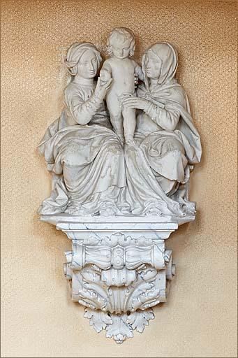 groupe sculpté et console : sainte Anne trinitaire