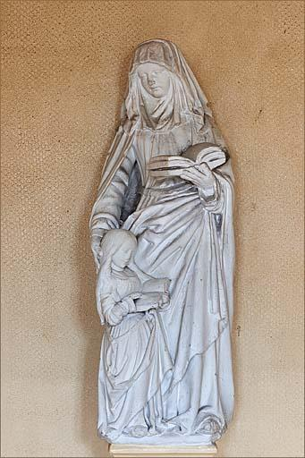 Groupe sculpté : Education de la Vierge